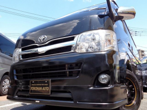 トヨタ ハイエースバン ロングスーパーGL 3型3.0ディーゼルターボナビTVバックカメラETCエアロHIDライト15AW黒革調シート2回目Tベル交換済