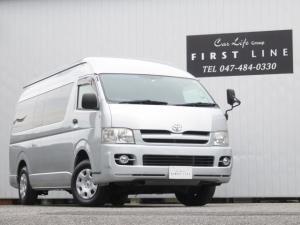 トヨタ ハイエースコミューター  GLベース 2.5DT 4WD 1ナンバー登録 普通貨物 8人乗り ナビ Bカメラ ETC 床張り施工 リアヒーター リアエアコン パワスラ