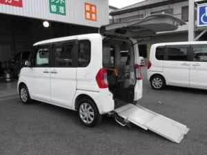 ダイハツ タント  福祉車スロープタイプ車イス電動ウインチ・純正ナビTV付