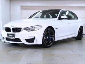 BMW M3 M3 BMW認定中古車 1年保証 アダプティブMサス 黒革 カーボンファイバートリム 19インチAW