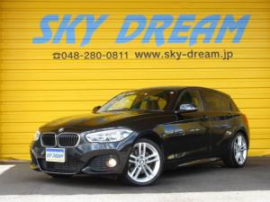 BMW 1シリーズ 118i Mスポーツ インテリジェントセーフティ 1オーナー車 純正HDDナビ バックカメラ クルーズコントロール LEDヘッドライト リアセンサー 純正18インチアルミ Mスポーツ専用Fバンパー アイドリングストップ