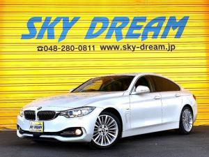 BMW 4シリーズ 420iグランクーペ ラグジュアリー アクティブクルーズコントロール 純正ナビBカメラ 地デジ 黒レザーシート インテリジェントセーフティ パドルシフト パワーシート ヒーター キセノンライト スマートキー インテリジェントセーフティ