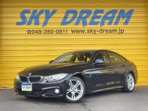 BMW 4シリーズ 420iグランクーペ Mスポーツ アダプティブクルーズコントロール 純正ナビ Bカメラ パワーバックドア コンフォートアクセス インテリジェントセーフティ 純正18インチAW アルカンターラコンビシート パドルシフト ETC HID
