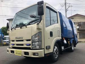 いすゞ エルフトラック 2t積プレス式パッカー車4.1立米モリタ東京都官庁仕様車