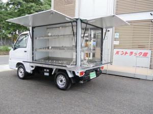 スバル サンバートラック 行商移動販売仕様AT車冷蔵庫100V電源有り棚ライト拡声器