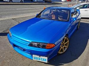 日産 スカイライン GTS-tタイプM HCR32改 タイプM クーペ 全塗装 車高調 LSD GTRフェイス 前置インタークーラー ロールバー タワーパー ブーコン オイルクーラー エアロミラー 外アルミ LEDテール サンルーフ