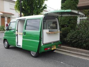 三菱 ミニキャブバン CLハイルーフ キッチンカ- 移動販売車 シンク2個付き