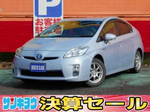 トヨタ プリウス L 純正ナビ 地デジTV DVD再生 Bluetooth プッシュスタート カーテンエアバッグ ウインカー付き電動格納ミラー 除菌 オートライト