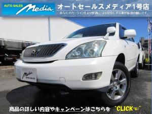 トヨタ ハリアー 240G Lパッケージ DVDナビBカメHIDETCキーレス