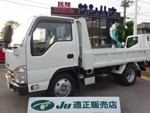 いすゞ エルフトラック  3t積載ダンプ 4ナンバー フルフラットロー 3.0Dターボ 6F コボレーン キーレス ETC