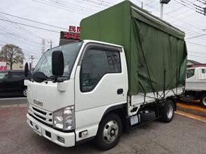 いすゞ エルフトラック  2t積載10尺平ボディ 3.0Dターボ 5F カーテン式取外し可能付き 4ナンバー ETC ナビ TRG-NJR85A