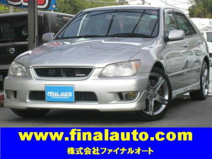 トヨタ アルテッツァ RS200LTDII禁煙1オ純正ナビ純正エアロ&光沢17AW