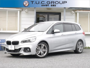 BMW 2シリーズ 220iグランツアラー Mスポーツ 高出力ガソリンターボ アドバンスドアクティブセーフティP 追従ACC HUD 後席モニター 地デジTV LEDヘッドライト&フォグランプ 電動リアゲート スマートキー Bluetooth音楽 2年保証