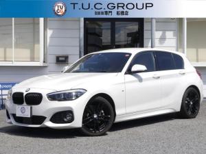 BMW 1シリーズ 118i Mスポーツ エディションシャドー 限定車 追従ACC ダークLED&テール 衝突軽減ブレーキ 車線逸脱&歩行者警告 ヒーター茶革 地デジTV Bカメラ タッチパネルiドライブHDDナビ Bluetoothオーディオ 2年保証