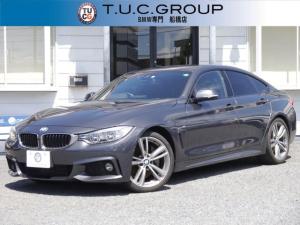 BMW 4シリーズ 435iグランクーペ Mスポーツ 1オナ 直6ターボ 黒革 LEDヘッドライト&フォグ HUD ハーマンカードンサウンド Pアシスト TOPビュー&サイドビューカメラ リアモニター 電動トランク スマートキー 地デジTV 2年保証