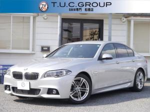BMW 5シリーズ 523i Mスポーツ 後期 LEDヘッドライト 追従ACC 電動トランク 衝突軽減ブレーキ 車線逸脱警告 歩行者警告 地デジHDDナビ Bカメラ Bluetoothオーディオ&通話 スマートキー 2年保証