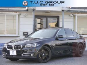 BMW 5シリーズ 528iラグジュアリー 16y後期 追従ACC レーンチェンジ警告 高出力245馬力 サンルーフ 黒革 液晶メーター LEDヘッドライト iドライブナビTV Bカメラ Bluetoothオーディオ&ハンズフリー通話 2年保証