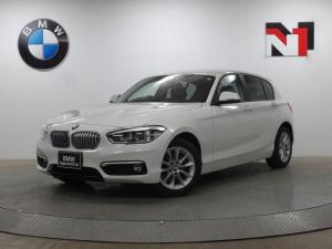 BMW 1シリーズ 118d スタイル 16インチAW HDDナビゲーション ホワイトブラックツートン内装 クルーズコントロール LEDヘッドライト 衝突警告 車線逸脱 USB AUX