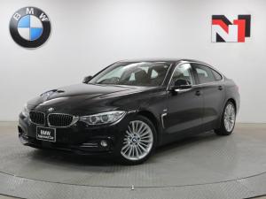 BMW 4シリーズ 420iグランクーペ ラグジュアリー 18インチAW ブラウンレザー内装 アクティブクルーズコントロール Rカメラ FRセンサー キセノン 衝突警告 車線逸脱 USB コンフォートアクセス 電動リヤゲート フロントシートヒーター