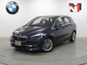 BMW 2シリーズ 218iアクティブツアラー ラグジュアリー 17インチAW ブラックレザー コンフォートパッケージ Rカメラ FRセンサー LED 衝突軽減 車線逸脱 USB フロントシートヒーター 電動リヤゲート