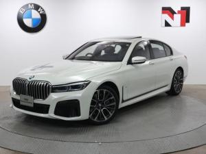 BMW 7シリーズ 750i xDrive Mスポーツ 20インチAW 電動ガラスサンルーフ アクティブクルーズコントロール パドルシフト 全周囲カメラ FRセンサー レーザーライト 衝突軽減 車線逸脱 ヘッドアップディスプレイ