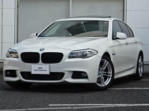 BMW 5シリーズ 528i Mスポーツパッケージ 後期18インチアルミ ガラスサンルーフ 黒革シート ウッドパネル HDDナビ 地デジチューナー 前後センサー バックカメラ コンフォートアクセス パドルシフト 電動シート アイドリングストップ  禁煙