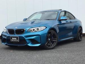 BMW M2 ベースグレード 純正HDDナビゲーション ドライブアシスト リアカメラ リアパークディスタンスコントロール ブラックレザーシート シートヒーター アイドリングストップ ガラスサンルーフ ETC 1オーナー 禁煙車