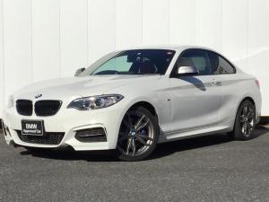 BMW 2シリーズ M240iクーペ レッドレザー シートヒーター 純正HDDナビゲーション クルーズコントロール ドライブアシスト コンフォートアクセス Rカメラ アイドリングストップ パドルシフト 18インチAW 1オーナー 禁煙車