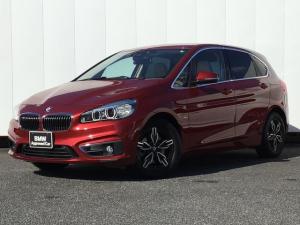 BMW 2シリーズ 218dアクティブツアラー ラグジュアリー ベージュレザー ドライブアシスト 社外16インチAW コンフォートアクセス アイドリングストップ 純正HDDナビゲーション Blue Toothミュージックサーバー Rカメラ LED ETC 禁煙車