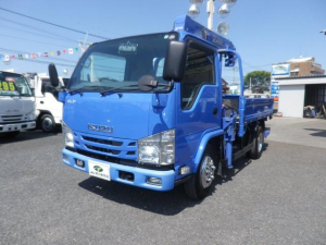 いすゞ エルフトラック  SG 2トンセミロング 4段クレーン ラジコンフックイン リアジャッキ付