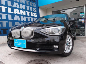 BMW 1シリーズ 116i スタイル ナビ TV バックカメラ ハーフレザー ETC キセノン アイドリングストップ オートエアコン 純正AW