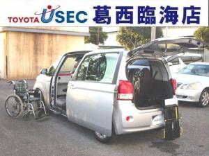 トヨタ ポルテ X ウェルキャブ 助手席回転チルトシート Bタイプ 車いす収納装置 左側パワースライドドア トヨタセーフティセンスC アイドリングストップ フットレスト キーレス 消費税非課税車
