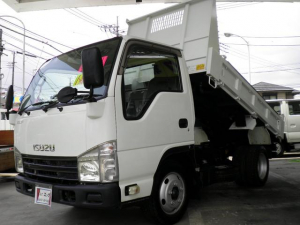 いすゞ エルフトラック フルフラットローダンプ 2トン積載 ディーゼルターボ 6速マニュアル HSA(坂道発進補助)ASR(横滑り防止)格納ミラー ETC キーレス