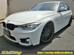 BMW 3シリーズ 320i スポーツ M3スタイルエアロKIT NICHE19インチAW MARVIN4本出しマフラー LDサス トランクスポイラー HIDライト LEDフォグ コンフォートアクセス HDDナビBカメラ ドラレコ ETC