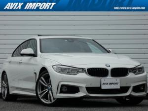 BMW 4シリーズ 435iグランクーペ Mスポーツ 右H 1オナ Dアシスト 黒革 サンルーフ HDDナビ 地デジ バックカメラ パークディスタンス メモリー付きパワーシート&シートヒーター コンフォートアクセス クルコン パワーテールゲート HUD LEDライト 19AW