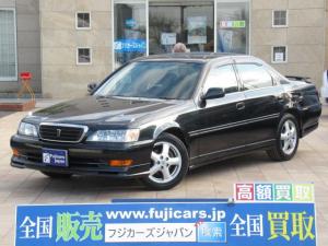 トヨタ クレスタ ルラーンS 後期 1オーナー 純正エアロ 純正16インチアルミ 新品タイヤ SDナビ DVD再生 CD ワンセグ キーレス HIDヘッドライト