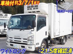 いすゞ エルフトラック  冷凍車バン 低温 格納パワーゲート付 ワイドロング  マニュアル6速