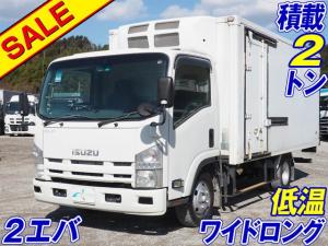 いすゞ エルフトラック  ワイドロング 2エバ 低温設定 積載2トン