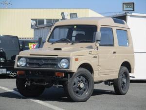 スズキ ジムニー EC 4WDターボ パワステ パノラミックルーフ FRバンパー 黒革調シートカバー