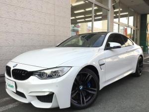 BMW M4 M4クーペ カーボンルーフ インテリセーフティ HUD M4クーペ  カーボンルーフ インテリジェントセーフティ  ヘッドアップディスプレイ  純正HDDナビ フルセグ Bカメラ ETC 黒レザーシート シートヒーター クルーズコントロール