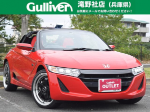 ホンダ S660 α 社外17AW 赤革調シートカバー LEDライト