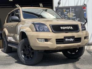 トヨタ ランドクルーザープラド TX リフトアップ 新品シートカバー 新品MTタイヤ