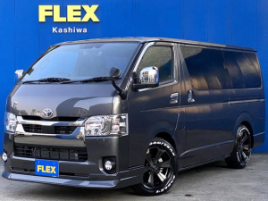 トヨタ ハイエースバン スーパーGL ダークプライムII FLEXカスタムパーツ多数取付 両側パワースライドドア カスタムナビパッケージ