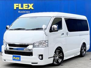 トヨタ ハイエースワゴン GL 415COBRAフルエアロ FLEXオリジナルフロントスポイラー FLEXオリジナルオーバーフェンダー FLEXオリジナル18インチアルミ FLEXオリジナルLEDテール ナビ フリップダウン