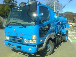 三菱ふそう ファイター 4トン 4t バキュームダンバー 汚泥吸引車 吸引車 清掃車 モリタ パワフルマスター RBX42 ダンパー 全国陸送可能