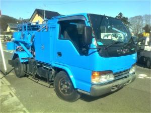 いすゞ エルフトラック 3トン 2トン 汚泥吸引車 バキュームダンパー ダンパー 吸引車 新明和 グリットスイーパ GV3-V020P 高圧洗浄ポンプ付き
