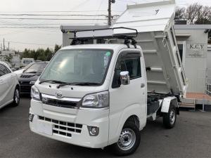ダイハツ ハイゼットトラック 多目的ダンプ エアコン パワステ 4WD ワンオーナー ナビ キーレス Bluetooth機能 ETC オートマ