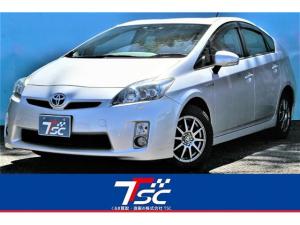 トヨタ プリウス S LEDエディション 禁煙車/純正ナビ/フルセグ/バックカメラ/Bluetooth/ETC/スマートエントリーキー/LEDヘッドライト/オートライト/DVD再生