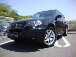BMW X3 2.5i Mスポーツパッケージ Mスポーツパッケージ 社外ナビ フルセグ ETC コーナーセンサー サンルーフ 黒革 シートヒーター パワーシート HID 18インチアルミ ルーフレール
