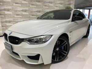 BMW M4 M4クーペ インテリジェントS 本革 ナビTV 禁煙 衝突警告 レーンアシスト バックカメラ 障害物センサー  Bluetooth ハンズフリー 19インチオプションホイール カーボンルーフ カーボンスポイラー